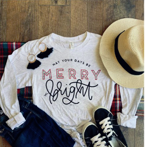 Merry & Bright Long Sleeve Graphic Tee