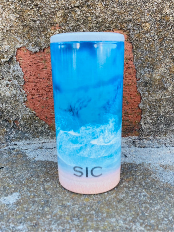 SIC Slim Can Cooler - Ocean Drone