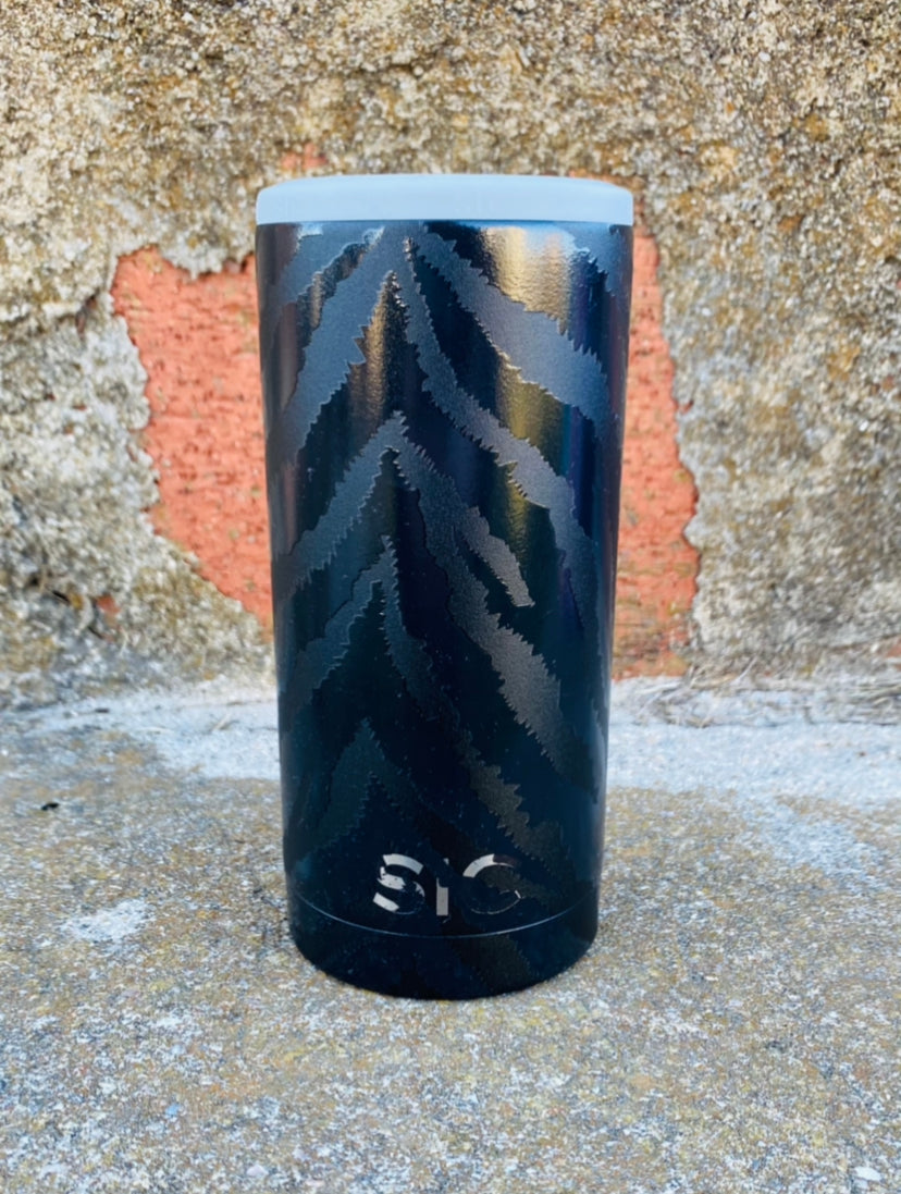 SIC Slim Can Cooler - Zebra Eclipse