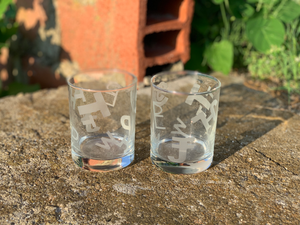 Branded Whiskey Glasses