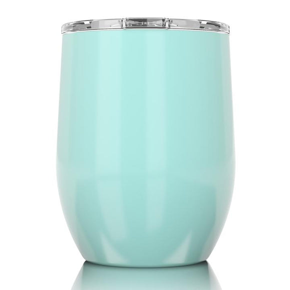 SIC 16oz Stemless Wine Glass -  Gloss Seafoam Blue