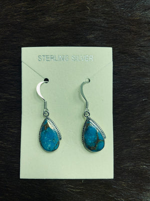 Matrix Turquoise Teardrop Earrings