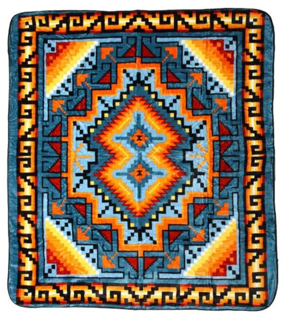 Luxury Plush Southwest Blanket - Queen Size
