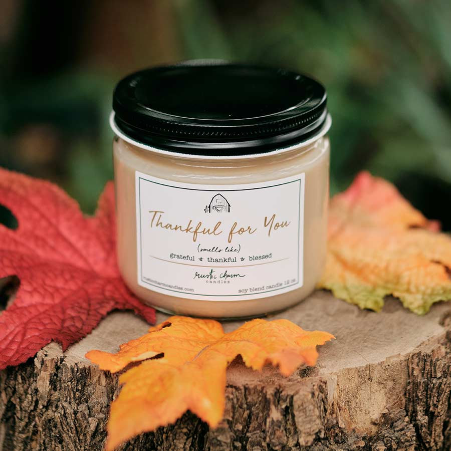 12oz Thankful For You Candle