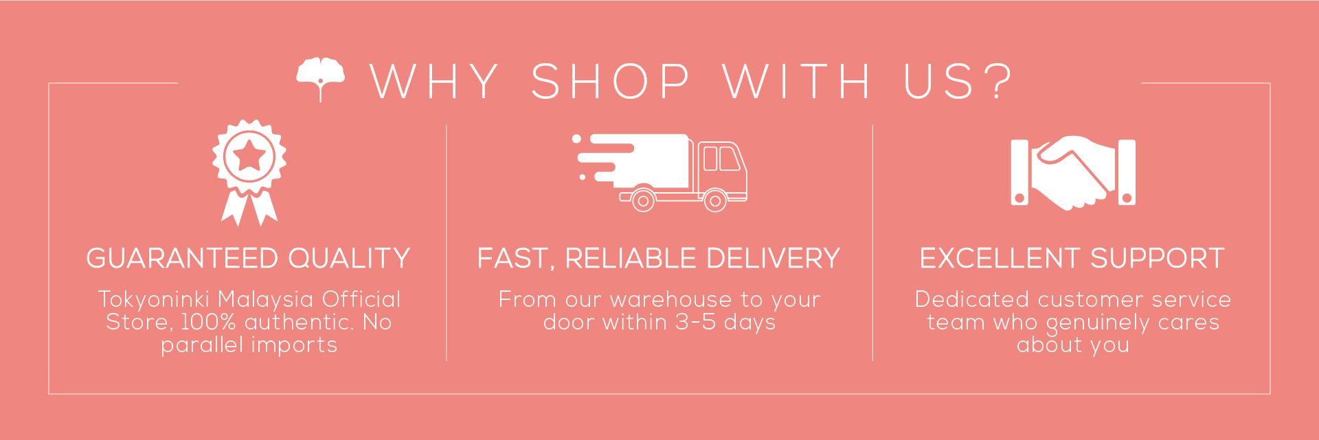 Why Shop With Us - Tokyoninki