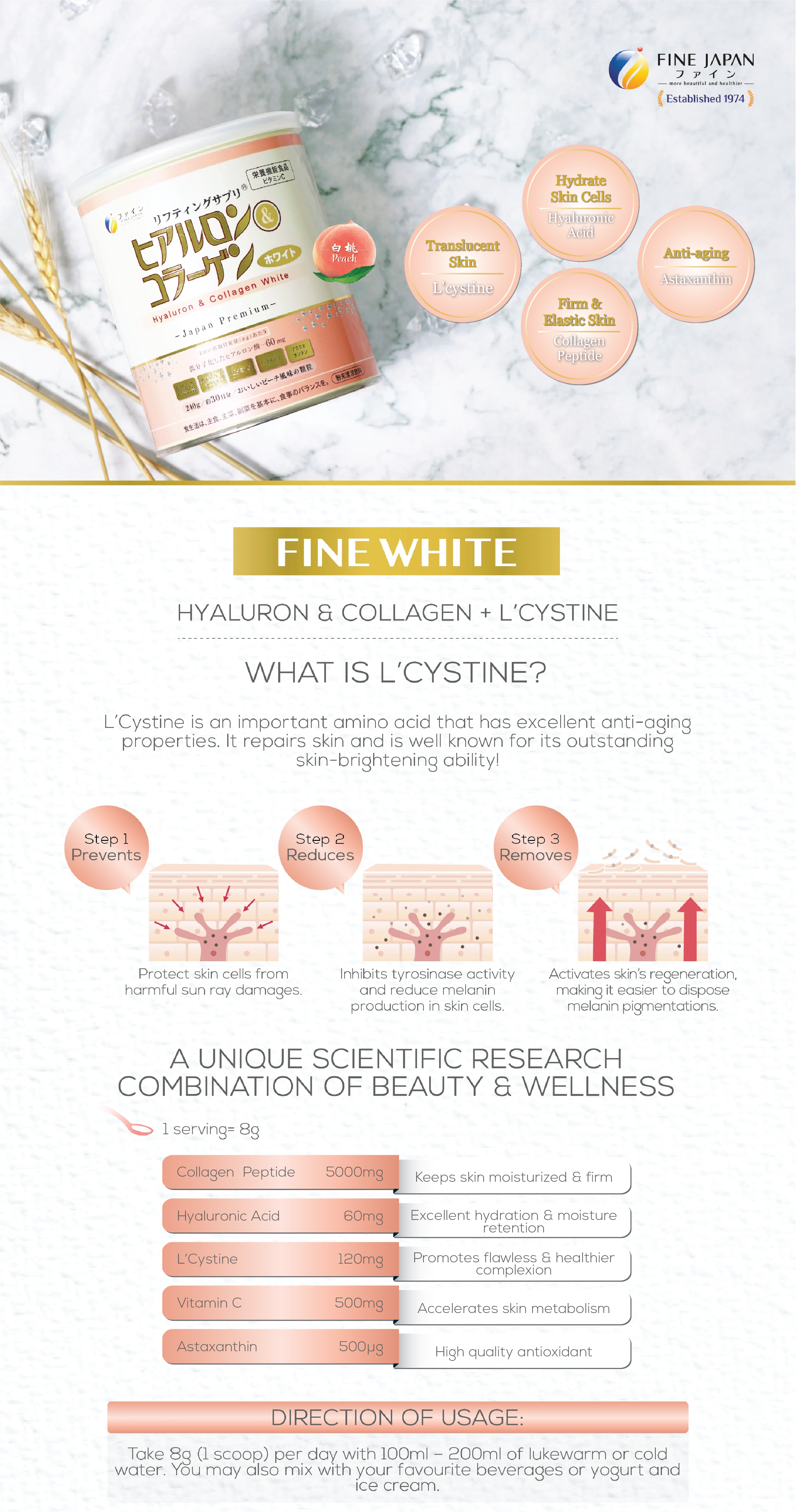 FINE HYALURON & COLLAGEN WHITE LANGDING PAGE