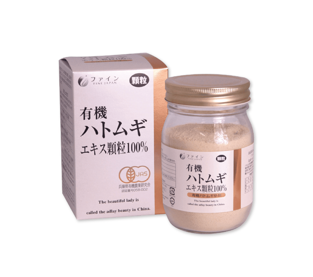 FINE ORGANIC PEARL COIX WITH BOTTLE