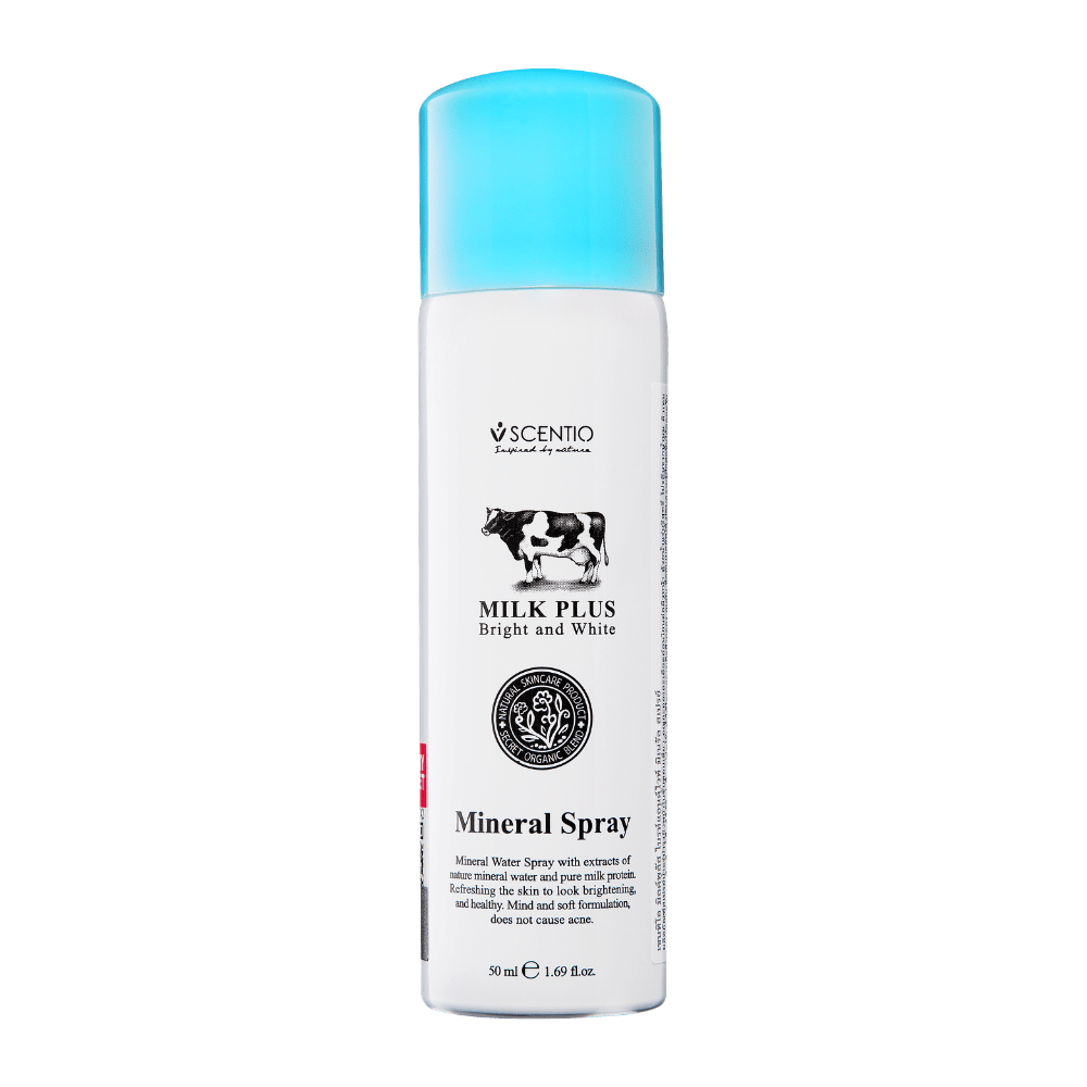 SCENTIO MILK PLUS BRIGHT & WHITE MINERAL SPRAY (50ML) - Tokyoninki