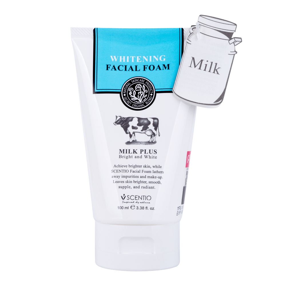 Scentio Milk Plus Whitening Q10 Facial Foam 100ML