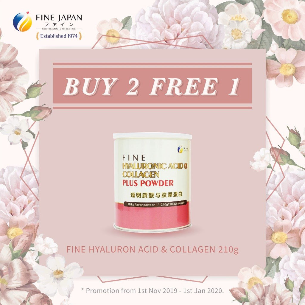 [ BUY 2 FREE 1 ] Fine Hyaluron Acid & Collagen (Normal Collagen)