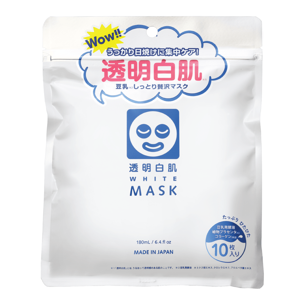 TOUMEI SHIROHADA TRANSPARENT WHITE MASK 10'S