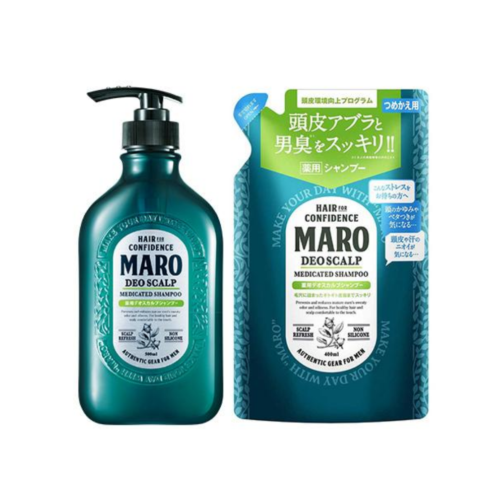 [BUNDLE] MARO DEO SCALP SHAMPOO + REFILL PACK 400ML - Tokyoninki