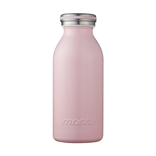 MOSH! Stainless Steel Water Bottle 350ml Peach
