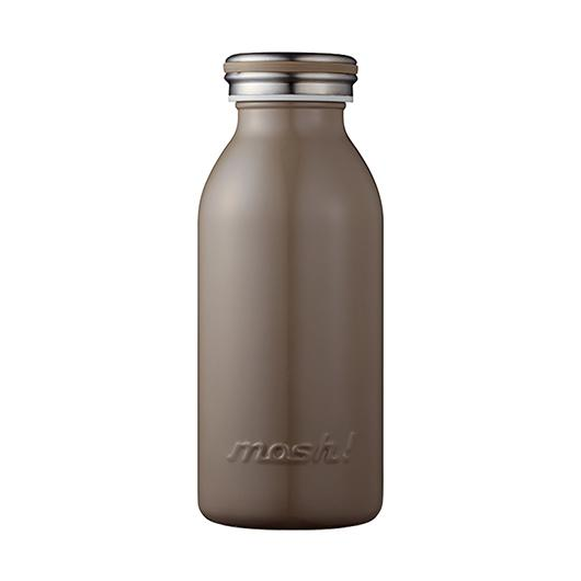 MOSH! Stainless Steel Water Bottle 350ml Brown