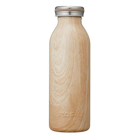 Mosh Stainless Steel Water Bottle Wood Brown 450ML