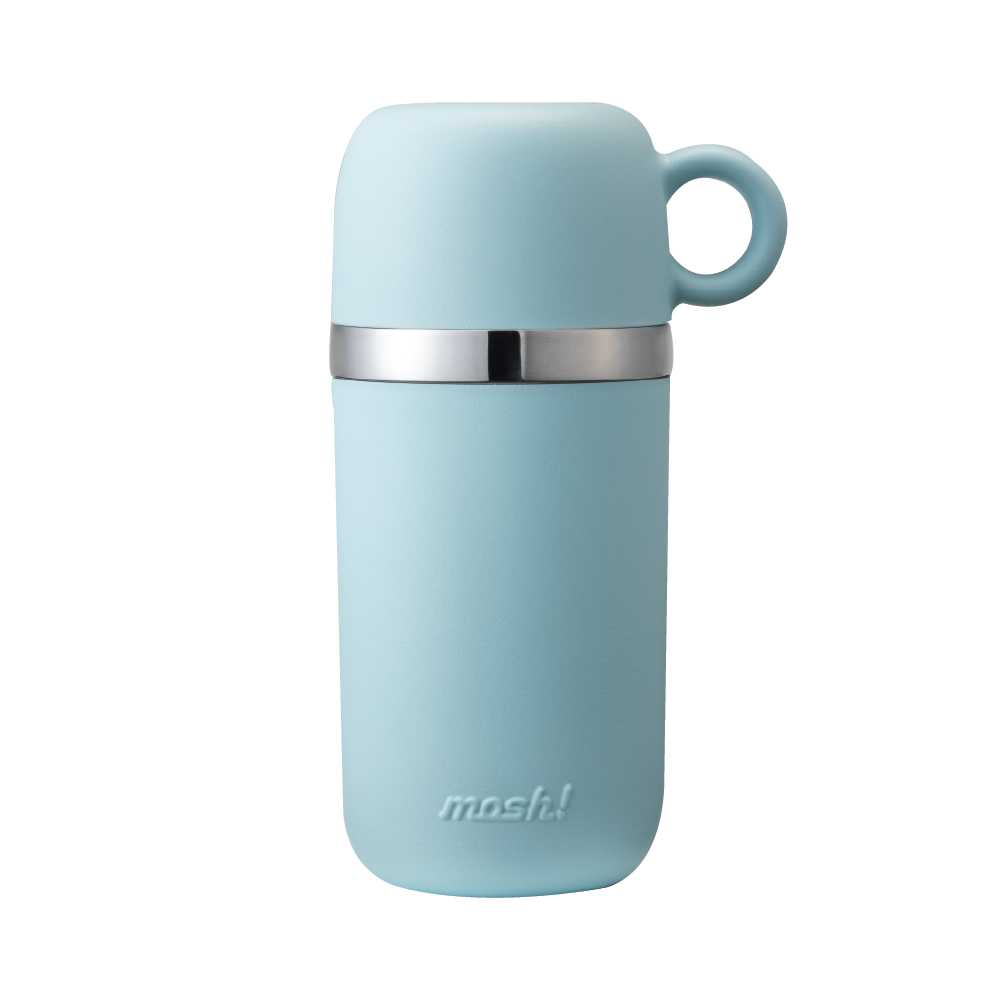 MOSH! C&W BOTTLE WITH CUP 450ML BLUE