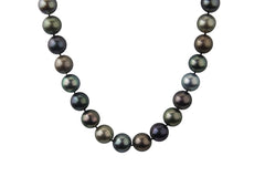 Multicolor Cultured 8-9mm Tahitian Pearl Single Strand Choker Necklace