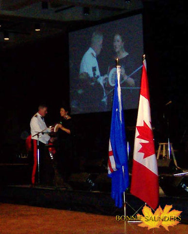 Presenting the very first Canadian Forces Crest Plate to General Rick Hillier in 2008.