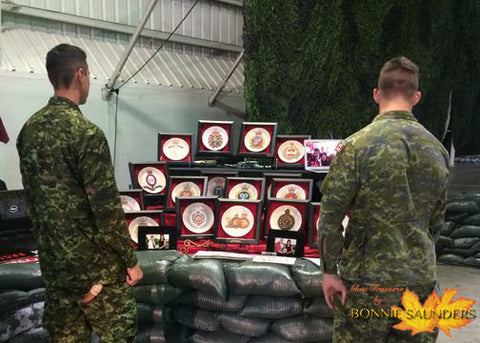 PPCLI Centennial Display of Glass Treasures by Bonnie Saunders
