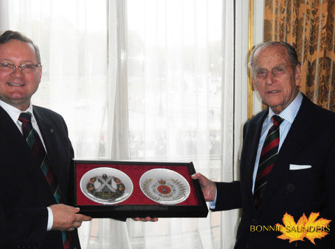 Presentation to HRH Prince Philip as Colonel-In-Chief of the Cameron Highlanders of Ottawa