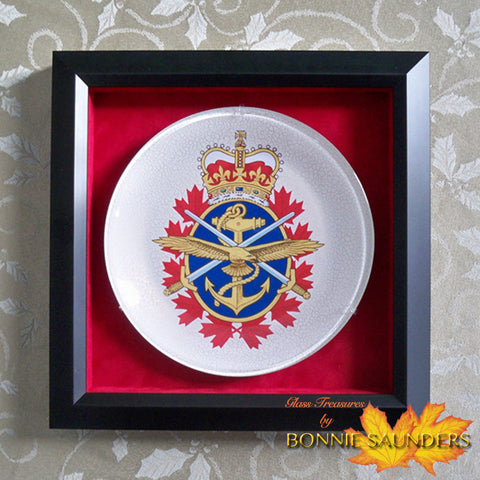 Canadian Forces Badge Plate - the first of MANY approvals over the years!