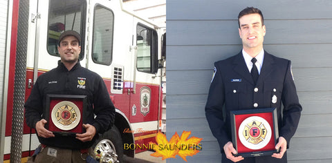 Glass Treasures by Bonnie Saunders is proud to support the International Association of Fire Fighters