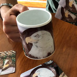 Bald Eagle Magic Transformation Mugs (SET OF FOUR) **Watch the video to see how it TRANSITIONS before your eyes!**