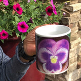 Purple Pansy Magic Transformation Mug **Watch the video to see how it TRANSITIONS before your eyes!**