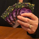 Purple Pansy Deck Of Cards