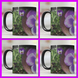Purple Pansy Magic Transformation Mugs (SET OF FOUR) **Watch the video to see how it TRANSITIONS before your eyes!**