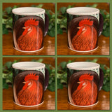 Barnyard Red Rooster Magic Transformation Mugs (SET OF FOUR) **Watch the video to see how it TRANSITIONS before your eyes!**