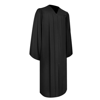 Matte Black Bachelor Graduation Gown