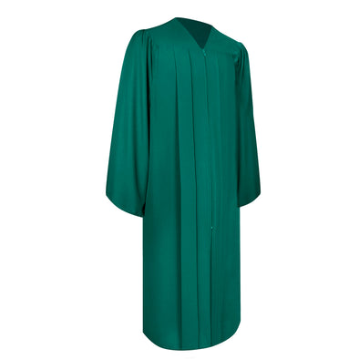 Matte Emerald Green Bachelor Graduation Gown