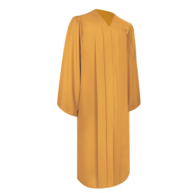 Matte Gold Bachelor Graduation Gown