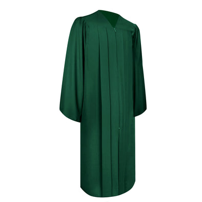 Matte Hunter Green Bachelor Graduation Gown