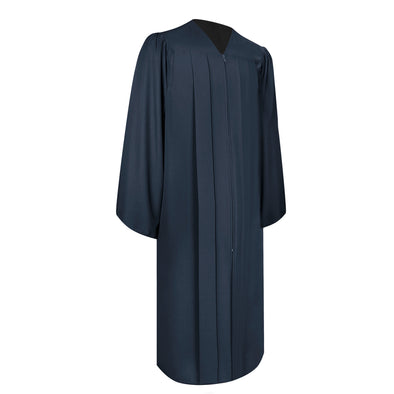 Matte Navy Blue Bachelor Graduation Gown