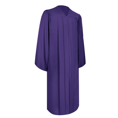 Matte Purple Bachelor Graduation Gown