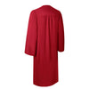 Matte Red Bachelor Graduation Gown