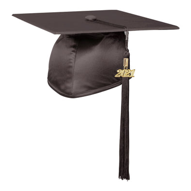 Shiny Brown Elementary Graduation Cap & Tassel