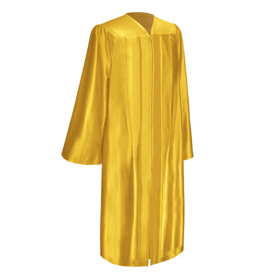 Shiny Gold Bachelor Graduation Gown