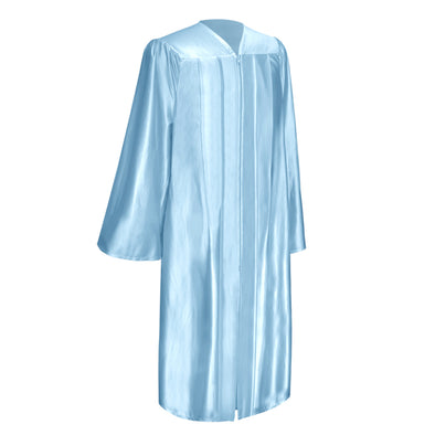 Shiny Light Blue Bachelor Graduation Gown