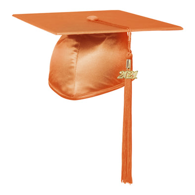 Shiny Orange Elementary Graduation Cap & Tassel