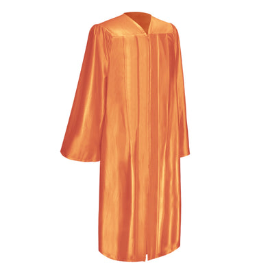 Shiny Orange Bachelor Graduation Gown