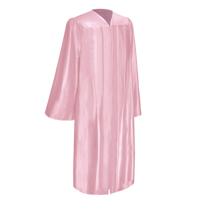 Shiny Pink Bachelor Graduation Gown