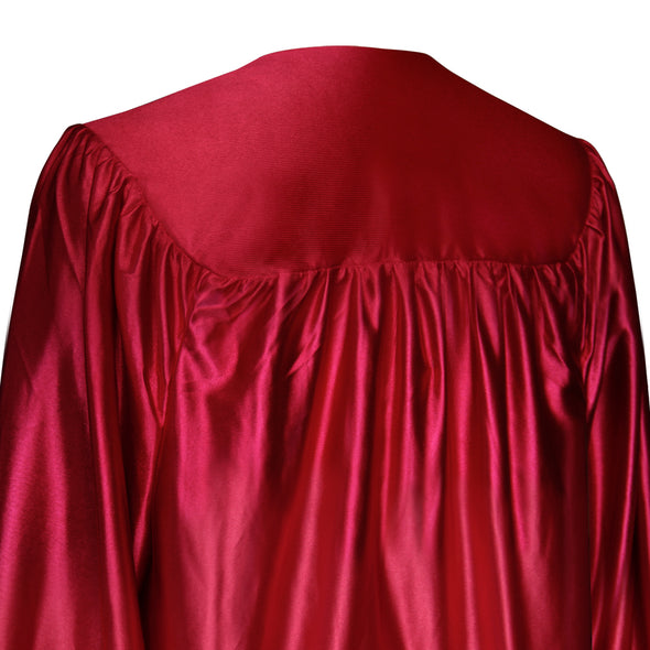 Shiny Red Bachelor Graduation Gown