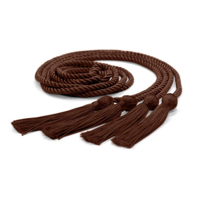College & University Double Graduation Honor Cord Brown - Endea Graduation