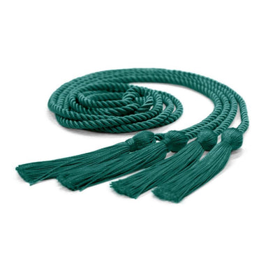 College & University Double Graduation Honor Cord Emerald Green - Endea Graduation