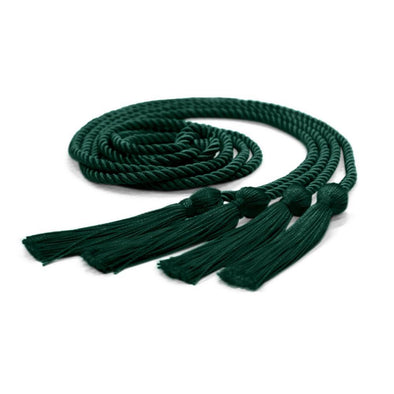 College & University Double Graduation Honor Cord Hunter Green - Endea Graduation