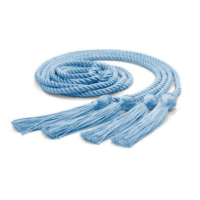 College & University Double Graduation Honor Cord Light Blue - Endea Graduation