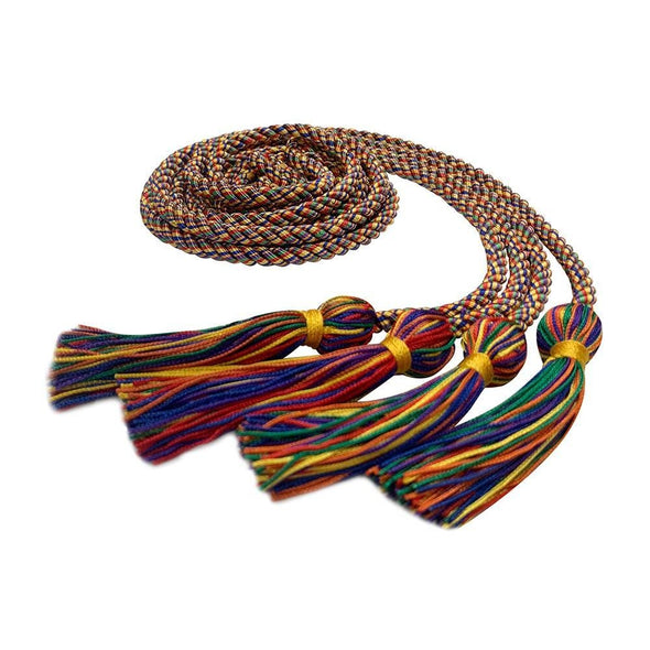 College & University Double Graduation Honor Cord Rainbow - Endea Graduation